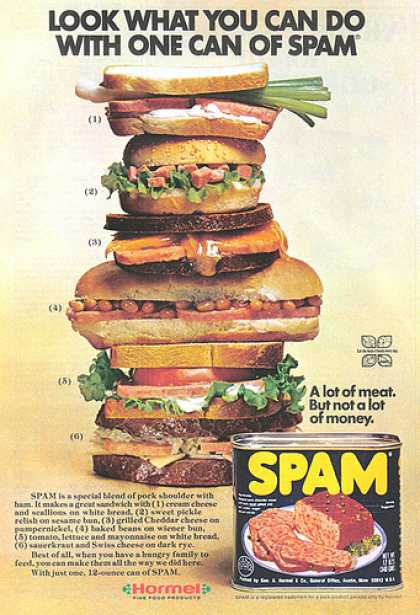 Vintage Spam Advertisements Of The 1970s