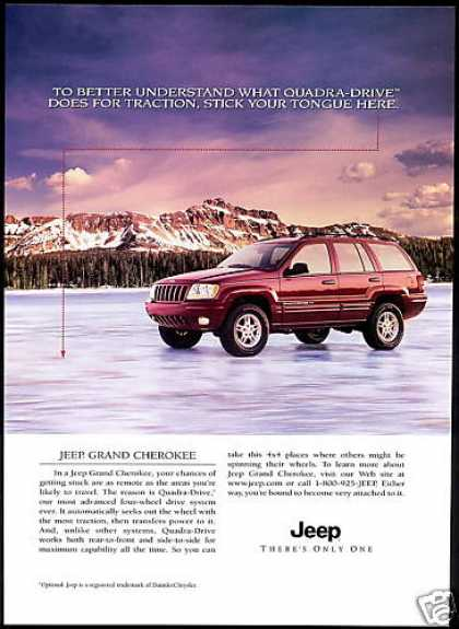 Jeep Grand Cherokee 4 by 4 Quadra Drive Car (2000)