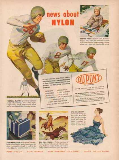 DU PONT – Football – What's New About Nylon? (1948)