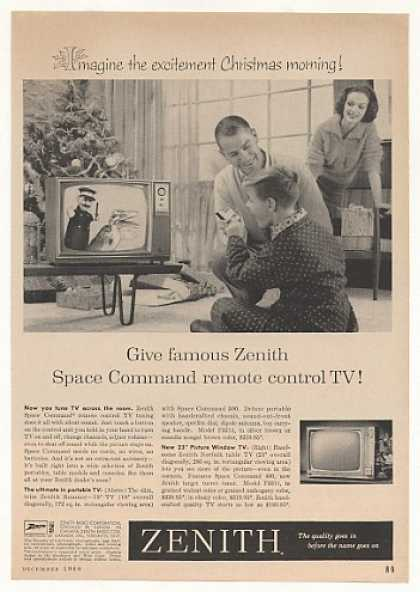 Zenith Roamer Portable Norfolk Table TV (1960)
