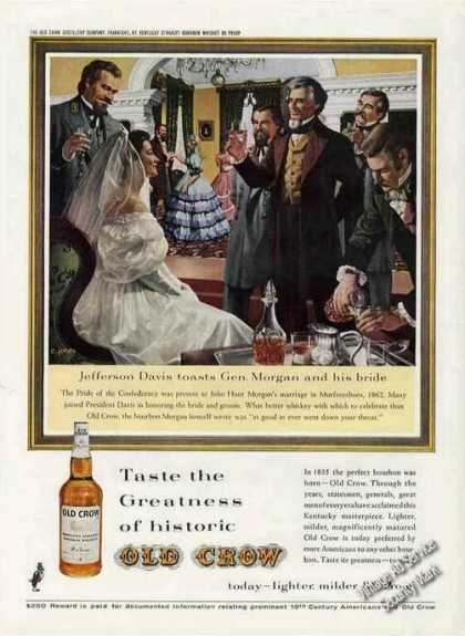 Jefferson Davis Toasts Gen. Morgan Art Old Crow (1962)