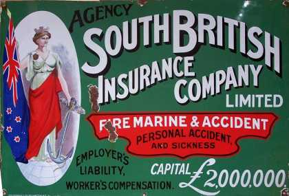 South British Insurance Sign