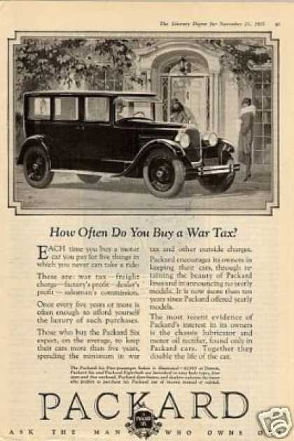 "Packard Car Ad ""How Often Do You Buy... (1926)"