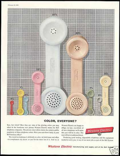 New Telephone 9 Colors Western Electric (1960)