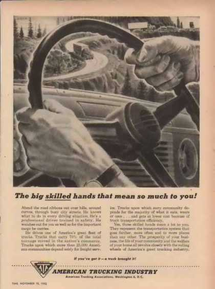 American Trucking Industry – Big skilled hands… (1952)