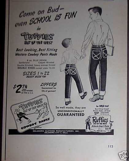 Tuffies Western Cowboy Pants Denim Jeans (1953)