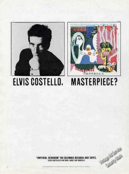 "Elvis Costello Photo ""Masterpiece"" Music Promo (1982)"