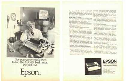 Epson FX-80 Dot Matrix Printer – Two pages (1983)