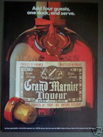 Grand Marnier Orange Liqueur Bottle (1976)