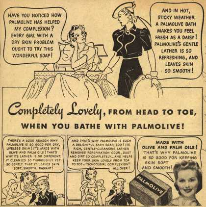 Palmolive Company's Palmolive Soap – Completely Lovely, From Head To Toe, When You Bathe With Palmolive (1940)