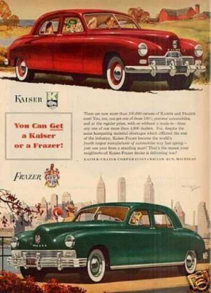 "Kaiser & Frazer Car Ad ""You Can Get... (1948)"