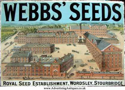 Webb's Seeds Factory Sign