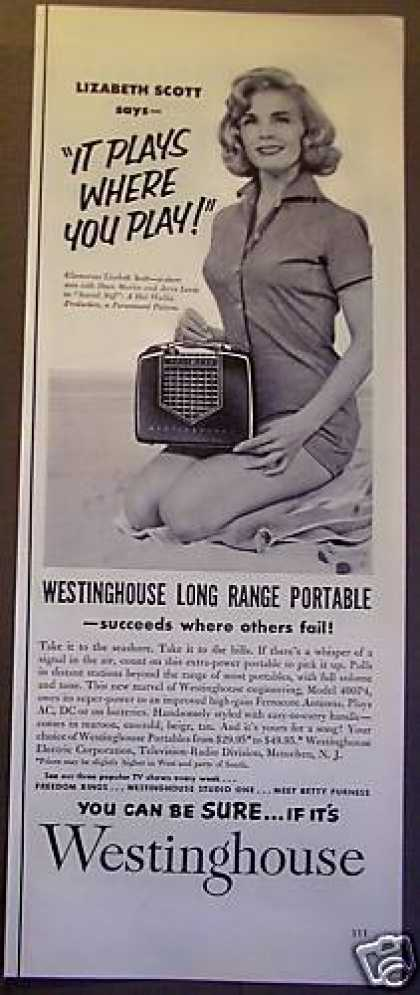 Westinghouse Portable Radio Lizbeth Scott (1953)