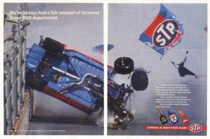 STP Richard Petty Race Car Turnover (1995)
