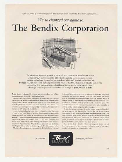 Bendix Aviation Change Name Bendix Corporation (1960)