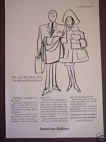 American Airlines Cartoon Art By Saxon (1967)