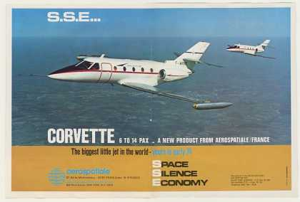 Aerospatiale Corvette Jet Aircraft Photo (1973)