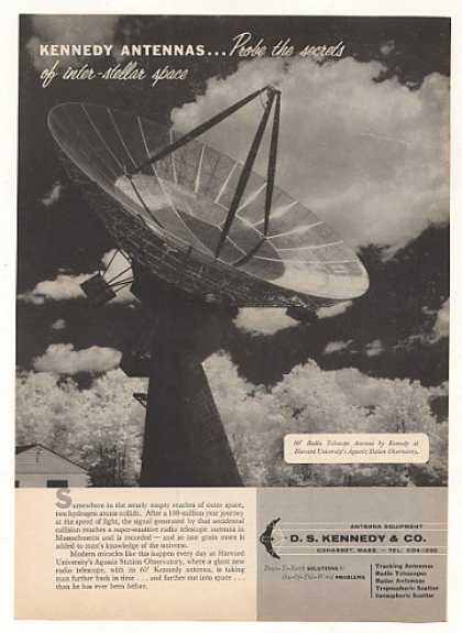 Kennedy Radio Telescope Antenna Harvard Agassiz (1956)