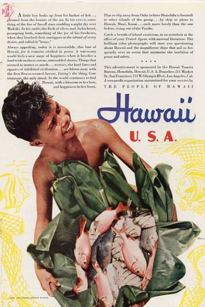 Hawaii Travel Ad Frissell Art T (1940)