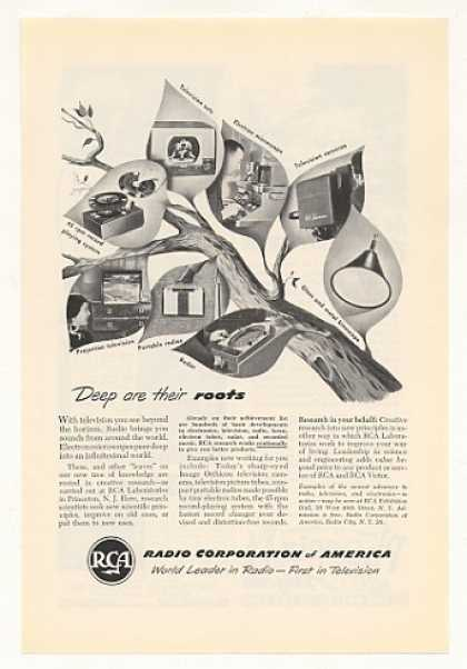 '50 RCA Tree Television Radio Phono Microscope Radar (1950)