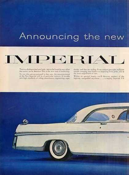 Chrysler Imperial Car Ad 2 Page (1956)