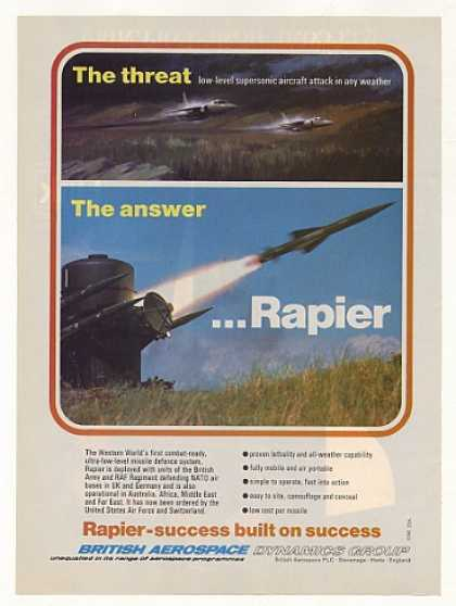 British Aerospace Rapier Missile System Photo (1981)