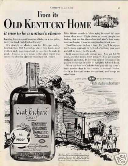 Crab Orhard Bourbon Whiskey (1936)