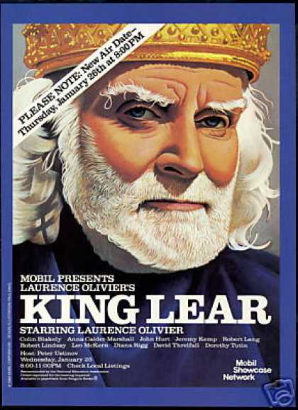 King Lear Laurence Olivier Art Mobil TV Film (1984)