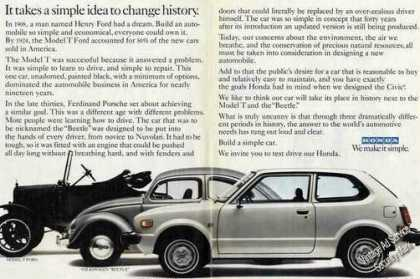 "Honda Civic ""Simple Idea To Change History"" Car (1979)"