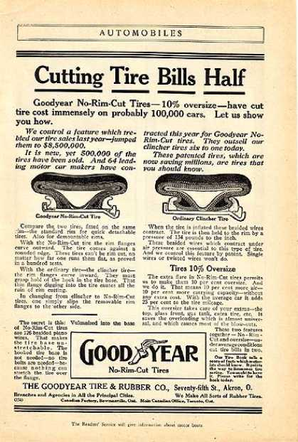 Goodyear's No-Rim-Cut Tires (1911)