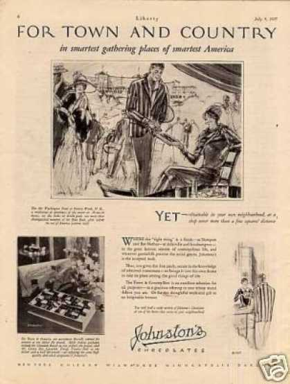 Johnston's Chocolate Candy (1927)