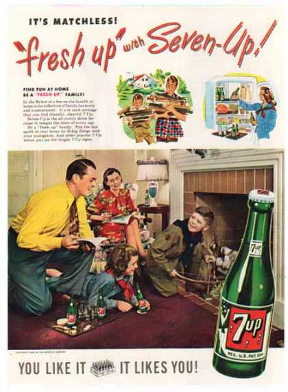 Seven Up Soda – freshen up with Seven Up (1948)