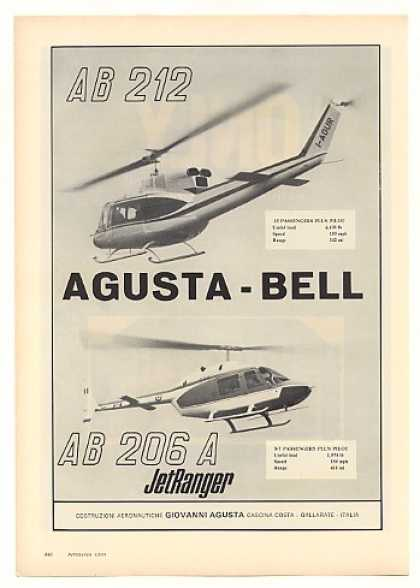 Agusta Bell AB212 AB206A JetRanger Helicopters (1971)