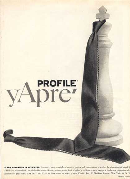 Yapre' Profile Fashion Necktie Tye (1956)