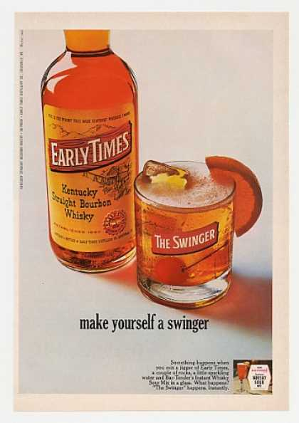 Early Times Whisky Make Yourself a Swinger (1968)