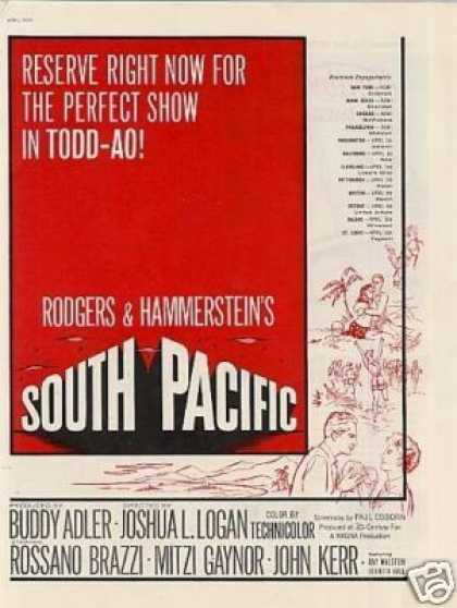 "Movie Ad ""South Pacific"" (1958)"