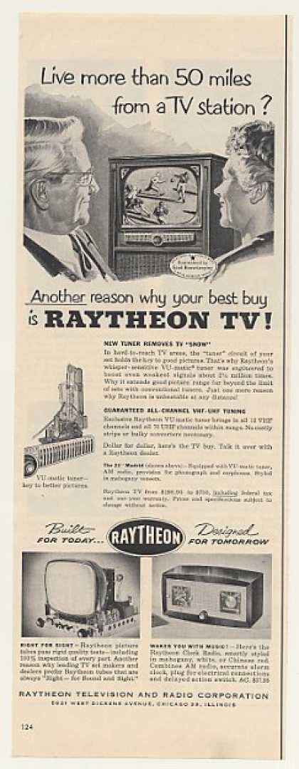 Raytheon Madrid VU-matic Tuner TV Television (1952)