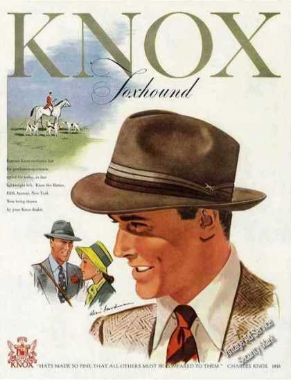 "Knox ""Foxhound"" Hat Fashion Art (1947)"