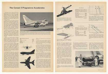 Vought A-7A Corsair 2 Aircraft 3-Page Article (1966)
