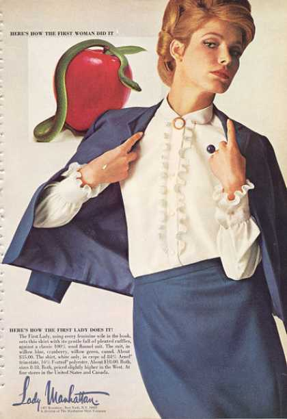 Lady Manhattan Fashion Style Skirt Shirt Cape (1966)
