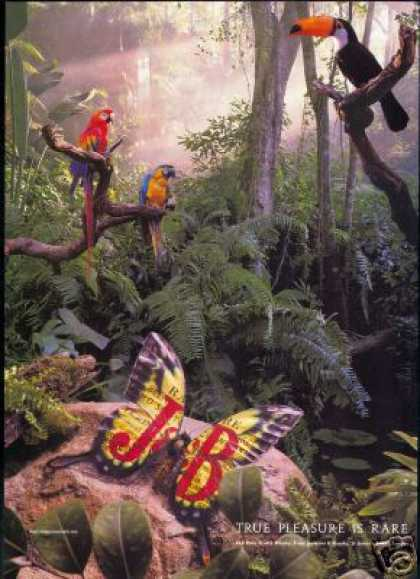 J&B Scotch Jungle Parrot Photo Vintage (1993)