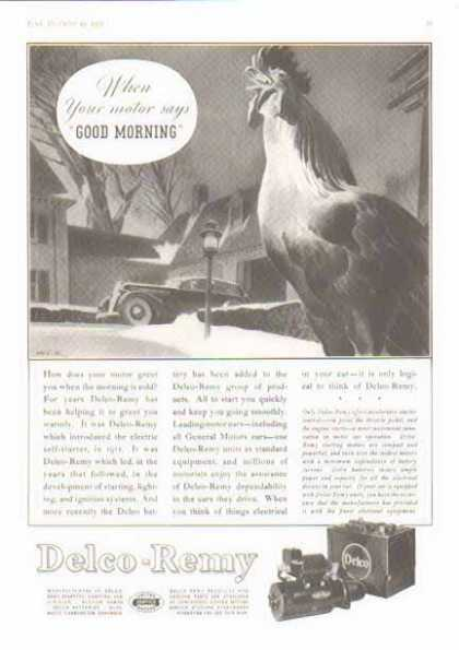 Delco-Remy Delco Battery – Good Morning! – Sold (1935)