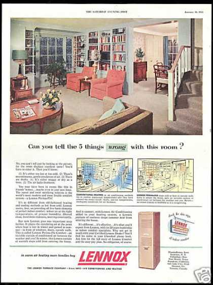 Lennox Home Heating Furnace Things Wrong (1954)