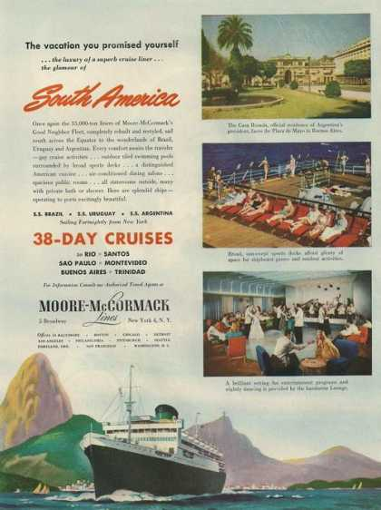 Moor Mccormack Cruise Line Ship (1948)