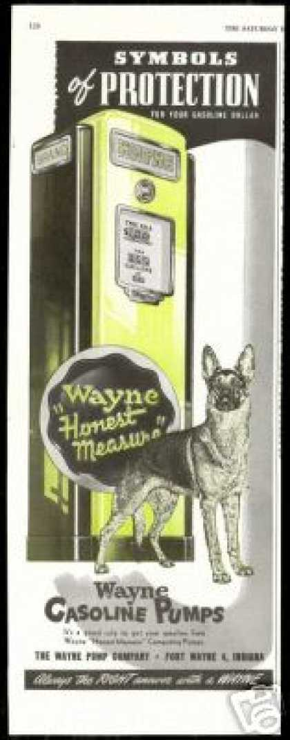 Great German Shepherd Dog Wayne Gasoline Pumps (1947)
