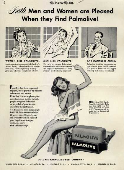 Colgate-Palmolive-Peet Company's Palmolive Soap – Both Men and Women are Pleased When they Find Palmolive (1950)