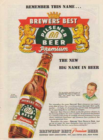 Brewers' Best Premium Pilsner Beer – Sammy Kaye (1947)