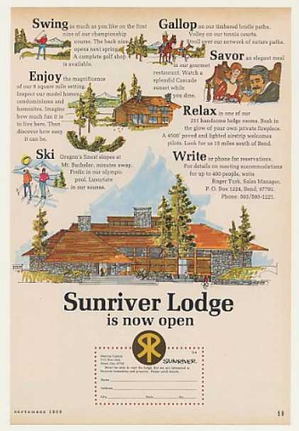 Sunriver Lodge Bend Oregon Homesites (1969)