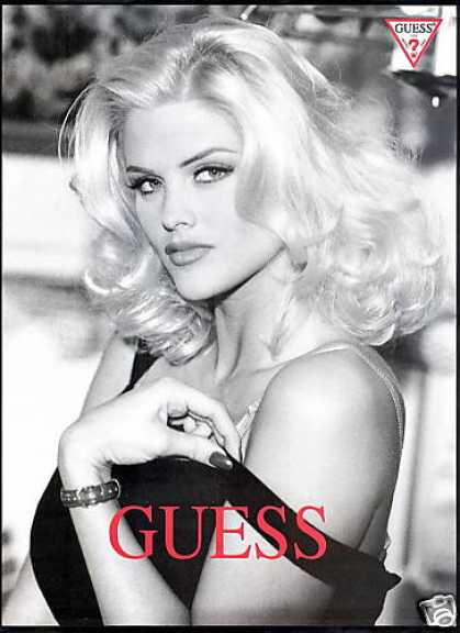 Anna Nicole Smith Photo Guess Fashion (1993)
