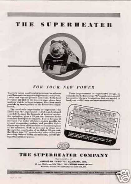 "Superheater Ad Southern Pacific ""Daylight"" 4-8-4 (1941)"